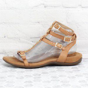 Vionic Sonora Gladiator Gold Studded Sandals Sz 9